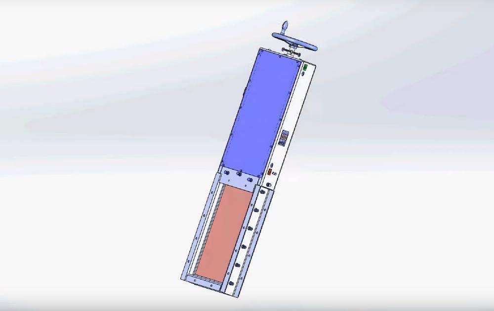 Schieberverschluss mit manueller Bedienung des Transports von Granulat
