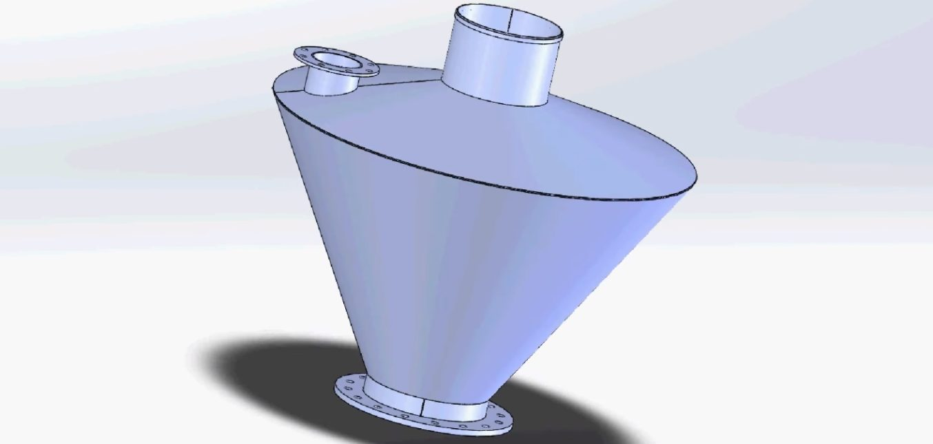 Granulate reduction container